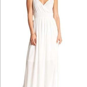 White gauze west Kei maxi dress size S NWT